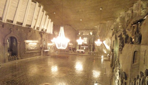 A Subterranean church carved in rock salt