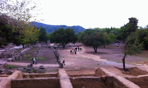 Winter time in Ancient Olympia