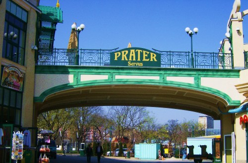 At the entrance of Prater
