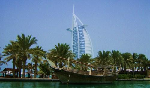 Burj Al Arab on an artificial island