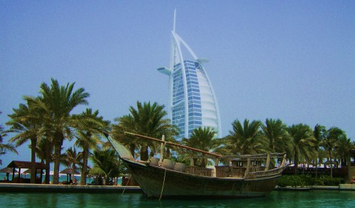 Burj Al Arab on an artificial island