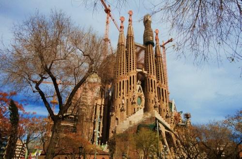 Sagrada Família -View of the Passion Facade