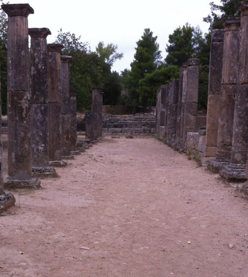 Ancient Ruins of Palaestra  area in which athletes trained for Wrestling