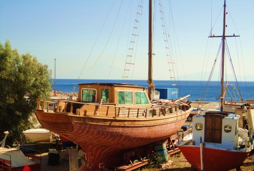 Ikaria's Friendly boats ...