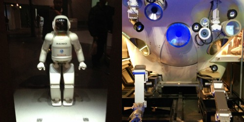 A Spacecraft,a Floating in Space Astronaut ...