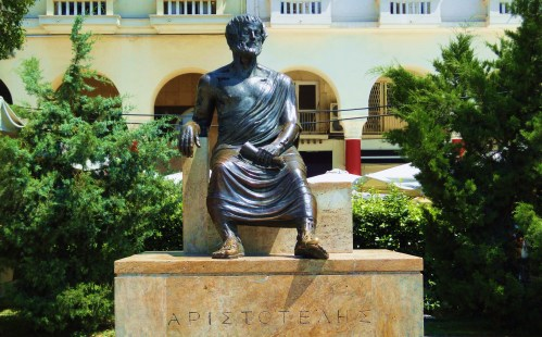 Aristotle's Statue in Aristotelous Square