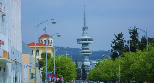 The Helexpo Tower of the International Exhibition Centre